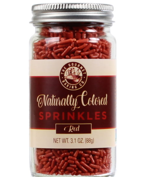 All Natural Red Sprinkles Round