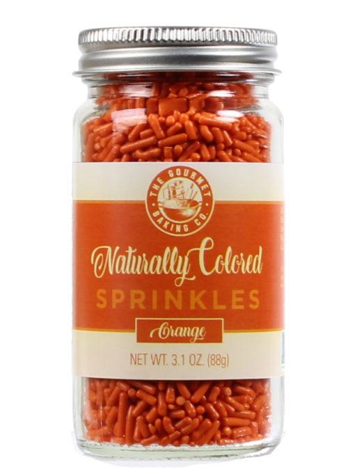 All Natural Orange Sprinkles Round