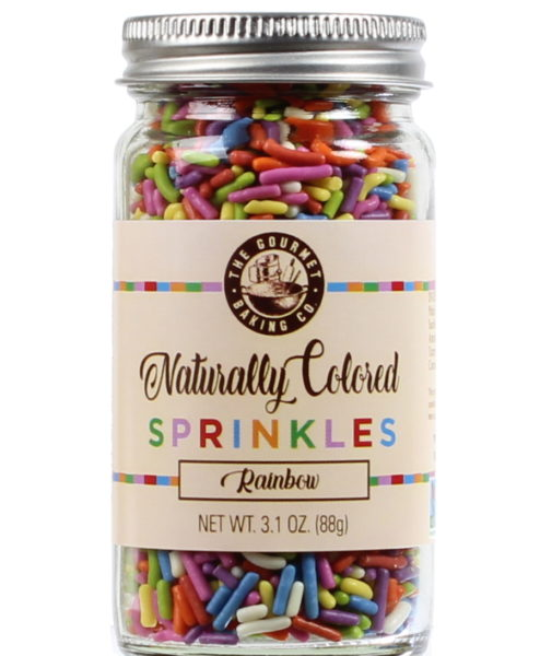 All Natural Rainbow Sprinkles Clr Round