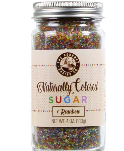 All Natural Rainbow Sugar Round