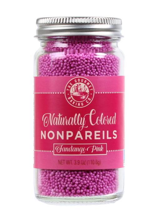 All Natural Pink Nonpareils Round