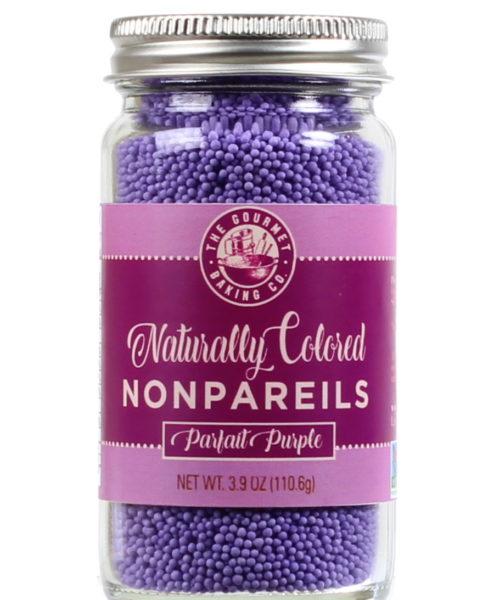 All Natural Purple Nonpareils Round