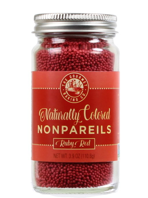All Natural Red Nonpareils Round