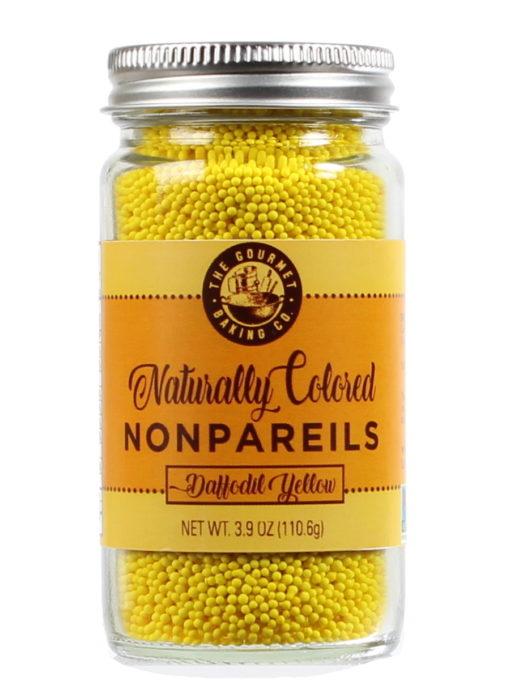 All Natural Yellow Nonpareils Round