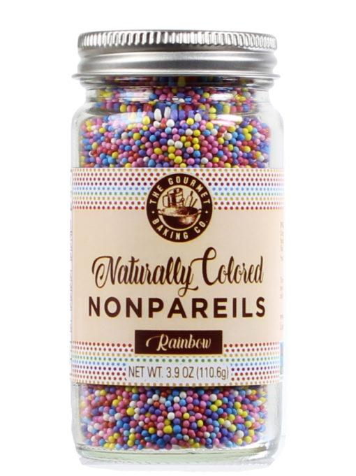 All Natural Rainbow Nonpareils Clr Round