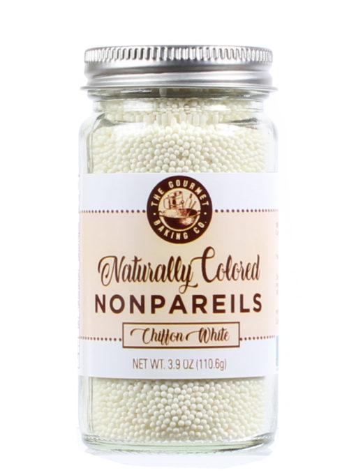 All Natural White Nonpareils Round