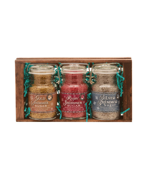 Gold Ruby Silver Shimmer Sugar Crate Set