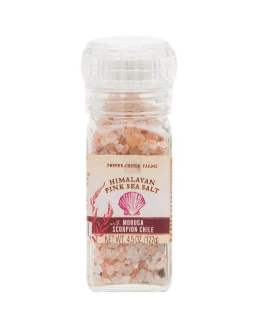 Himalayan Pink Sea Salt Scorpion Chili Grinder