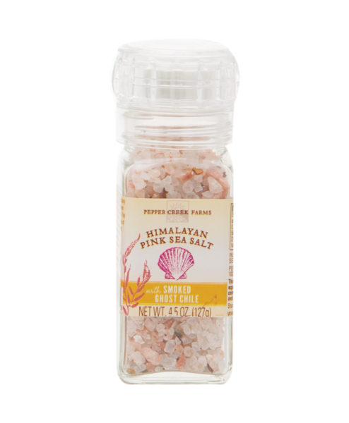 Himalayan Pink Sea Salt Smoked Ghost Chile Grinder