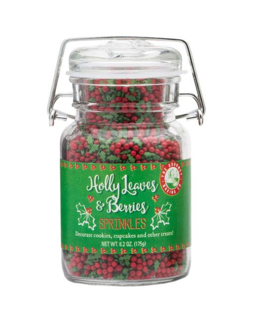 Holly Leaves And Berries Sprinkles
