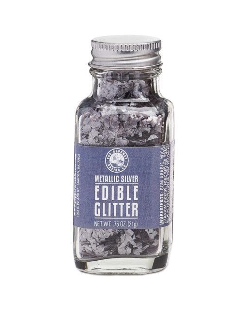 Metallic Silver Edible Glitter