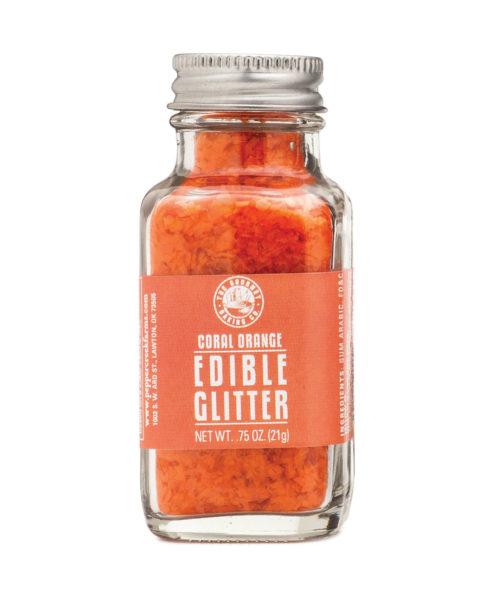Orange Coral Edible Glitter