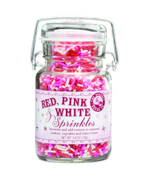 Red Pink White Sprinkles