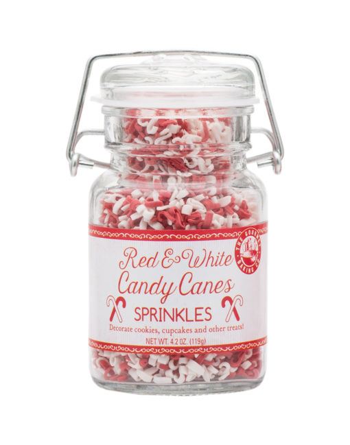 Red White Candy Cane Sprinkles