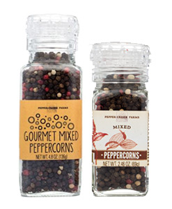Grinder-top Peppercorns