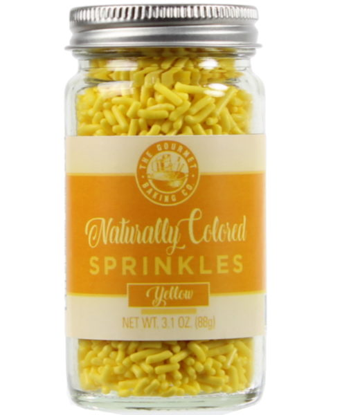 All Natural Yellow Sprinkles Round